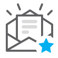open email icon with star